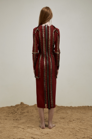 Yousef-akbar-bolt-Dress-Red-back